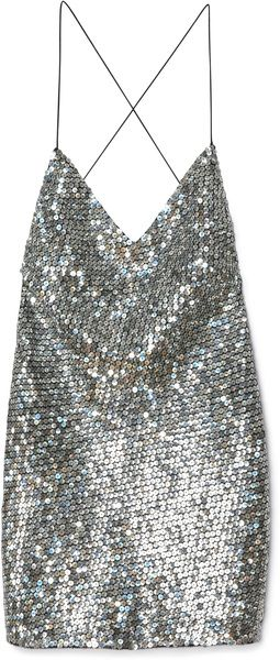 MARC JACOBS   Pewter Mirror Sequin Tank Dress - Lyst