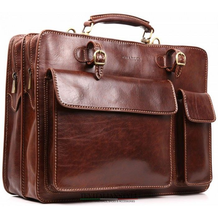 Chiarugi, business bags, c4478, professional briefcase leather, hand and shoulder strap with handle.