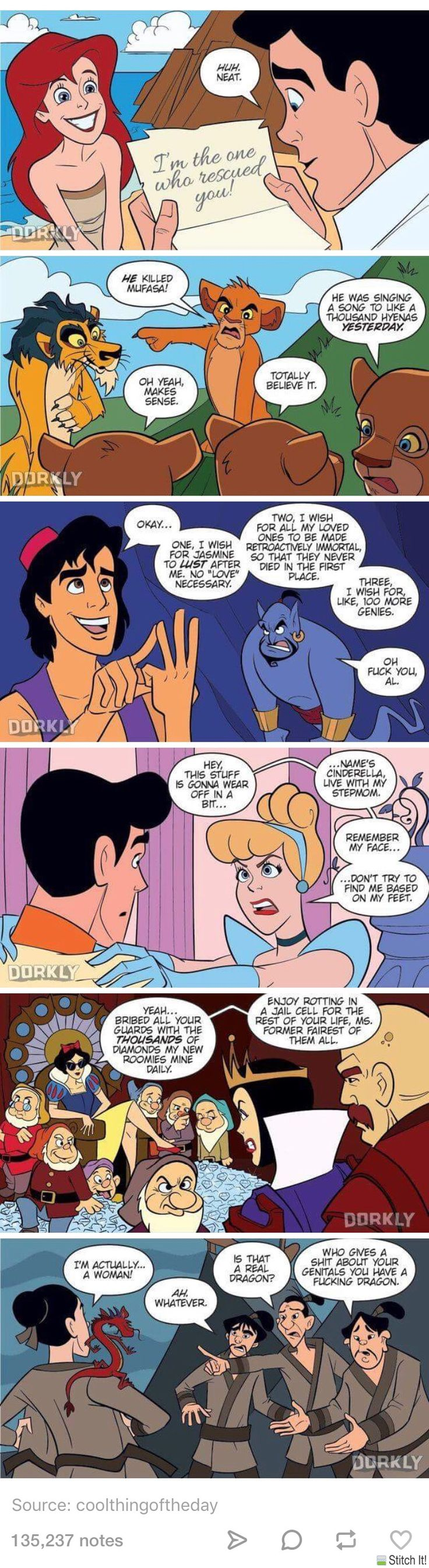 If Disney movies had quicker endings