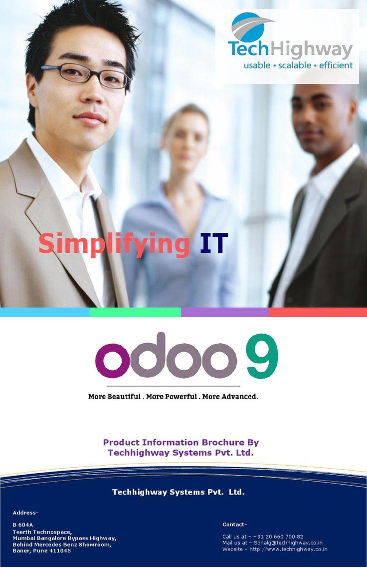Brochure odoo ODOO Integration and customization services brochure
