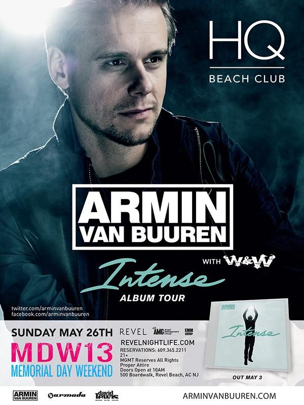 Area Event presents  Armin van Buuren at HQ Beach Club Atlantic City, NJ  Sunday 05.26.2013