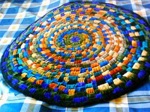 Coiled rag rug