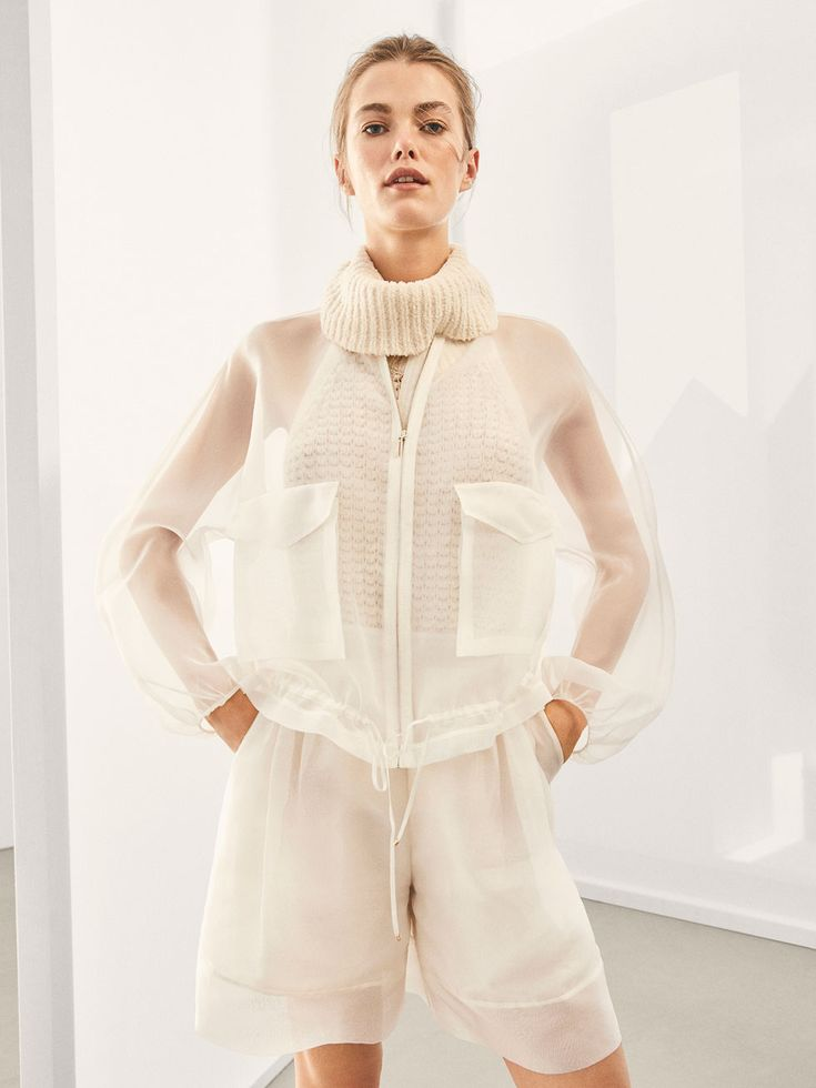 Spring Summer 2018 Women´s LIMITED EDITION SILK BOMBER JACKET at Massimo Dutti for 295. Effortless elegance!