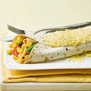 Recept - Tortilla met kip en mais - Allerhande