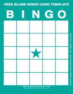 Free Blank Bingo Card Template 5