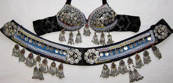 TBS1 Tribal belly dance setTribal kuchi setTribal belly