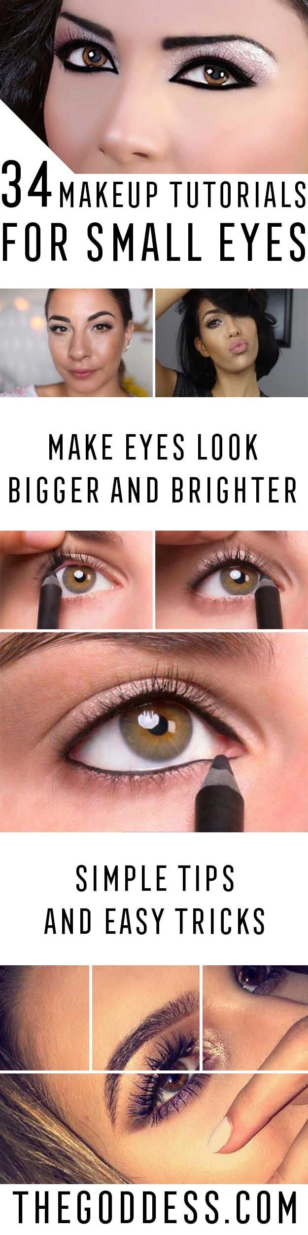 34 Makeup Tutorials For Small Eyes The Goddess - 625×2500