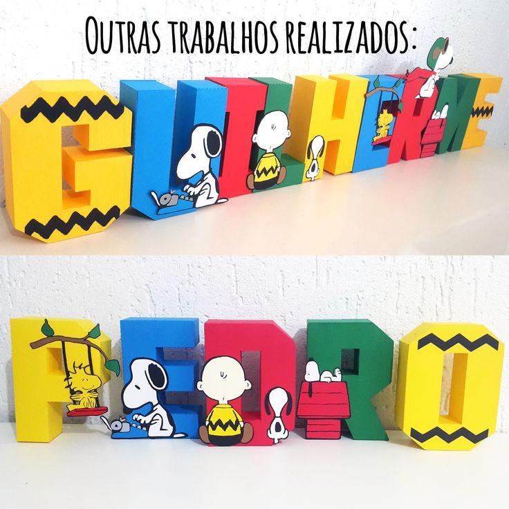 Letra 3D Snoopy Peanuts