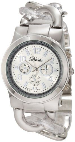 Breda Women's 2331-ClearSilver Locklin Clear And Silver Circular Links Band Watch Breda. $38.30. Highest Standard Quartz movement. A circular linked clear and silver band ends with a jewelry clasp. Sleek silver metal bezel. Water-resistant - not recommended to take into deep water or shower. Matching dial marked with three non-working sub-dials and complimenting Arabic numerals