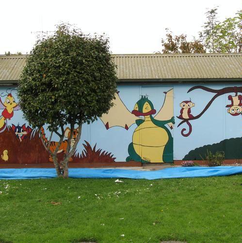Garage Wall Mural - After