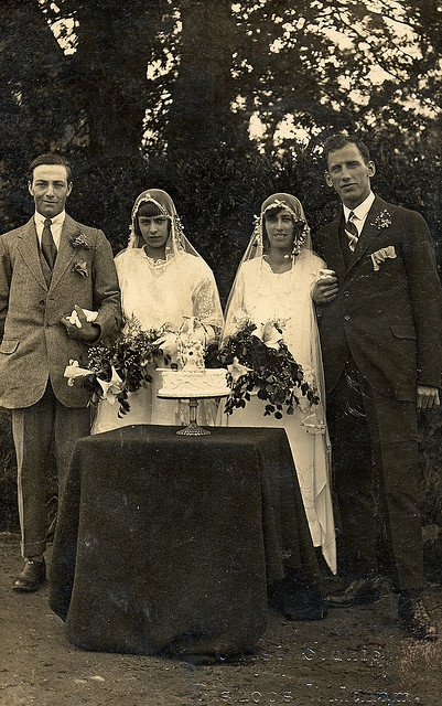 Hilda and Kent and Nellie and Fred get married.