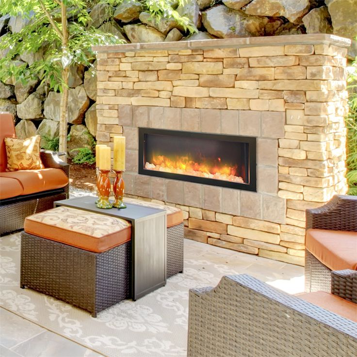 40 Inch Indoor Or Outdoor Electric Fireplace Electric