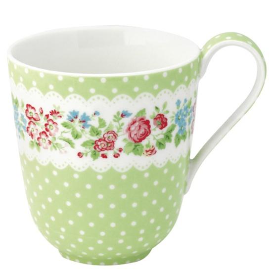 Best Ways To Redecorate With Green: Greengate Stoneware Mug Ivy Green (mit Bildern