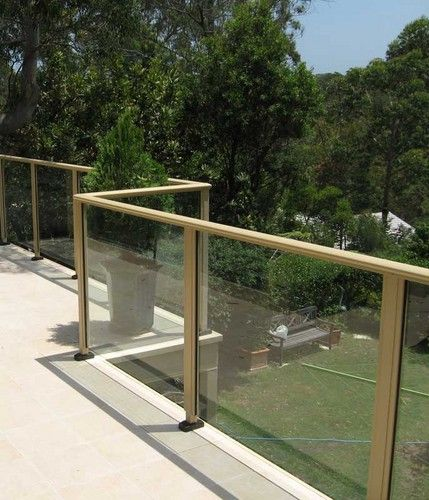 Tiled Deck And Glass Balustrades