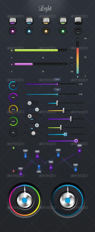 Light UI  #UI #elements #graphic