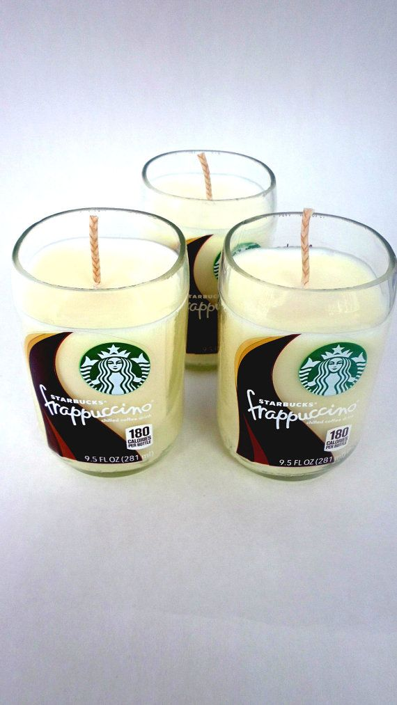 Set of 3 upcycled 9.5 oz Starbucks candles by Driftcandles on Etsy