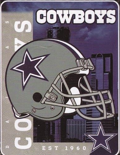 Dallas Cowboys NFL Helmet 60x80 Fleece Throw Blanket Attractive Team Designs Officially Licensed 100% Polyester Made in China http://livinggood-entrepeneural.blogspot.com/2014/11/gift-ideas-for-dallas-cowboys.html