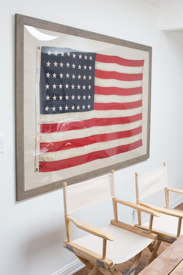 Patriotic Art for The Home - Framing the Flag / 4th of July / Modern Home Decor / Art