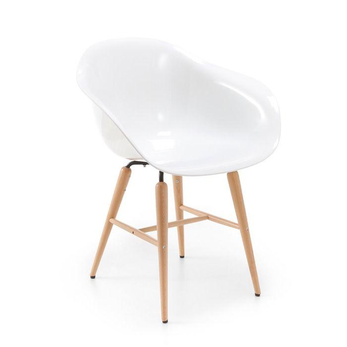 Kare Stuhl Forum Wood Weiss Kunststoff In 2020 Stuhle Esszimmer Einrichten Und Eames Stuhl
