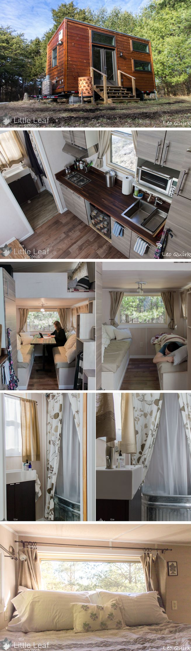 The Little Leaf Project Tiny House. A 220 Sq Ft Home, I Love Tiny Homes For  Their Innovative Design!