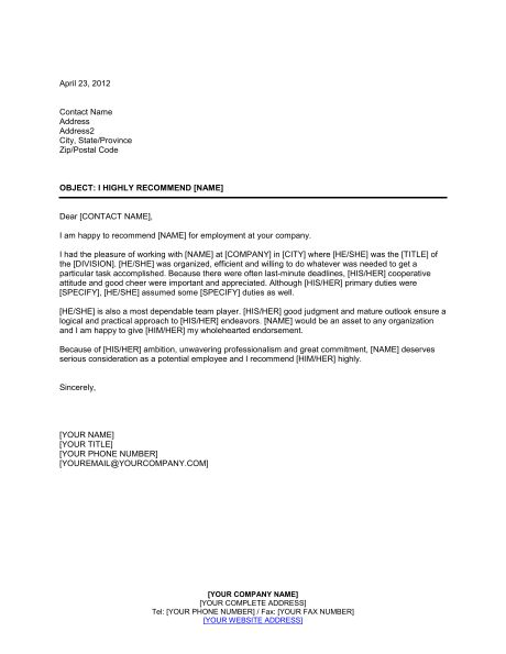 Best 25+ Employee recommendation letter ideas on Pinterest - recommendation letter from employer