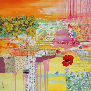 "Saatchi Art Artist Xiaoyang Galas; Painting, ""Oh happy day (Sold)"" #art"