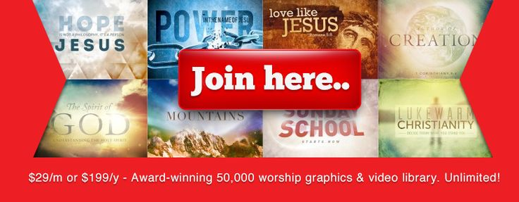 Sharefaith Membership - Gives Access to 50,000 worship graphics, templates and videos.