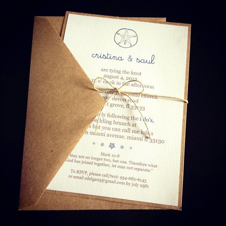 Sand Dollar Wedding Invitations by EpochDes on Etsy, $2.00