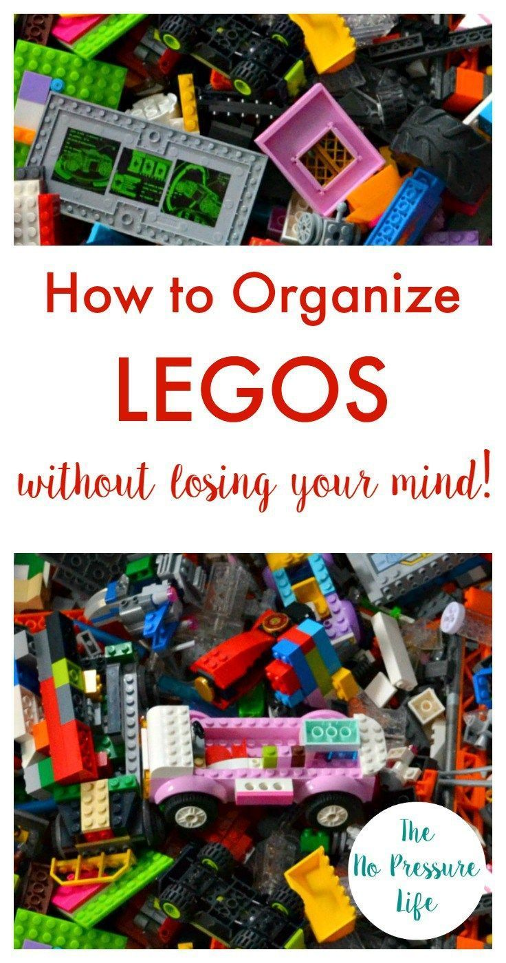 Does Lego storage and organization drive you crazy?? Learn how to organize Legos the easy way and get Lego storage ideas. Why didn't I think of this sooner? | The No Pressure Life