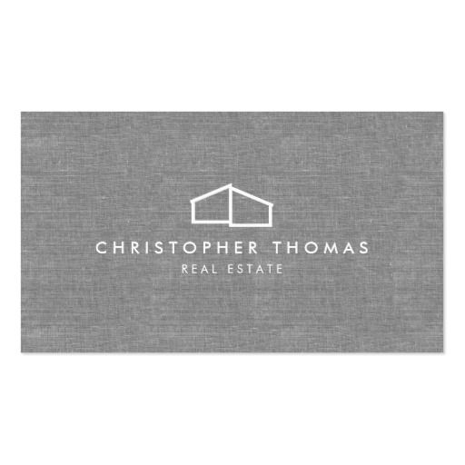 519 best real estate business cards images on pinterest real modern home logo on linen for real estate realtor business card colourmoves