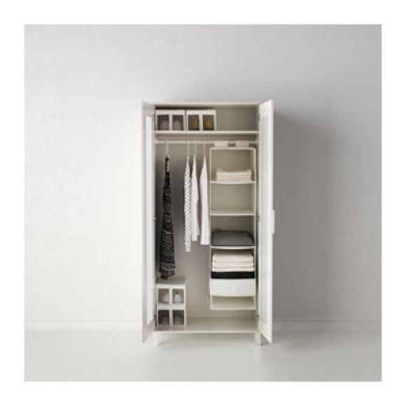 Closet Organizer & Shoe Box Organizers White // Excellent condition.// Includes 4 shoe box organizers, and one closer organizer with compartments for your tops , sweaters , shoes , jewelry box ... Ikea Other