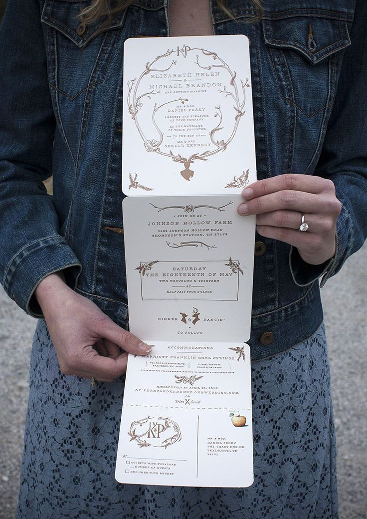 I love the non-traditional formatting of this invitation - so lovely!!  Perky_Kennedy_Betsy