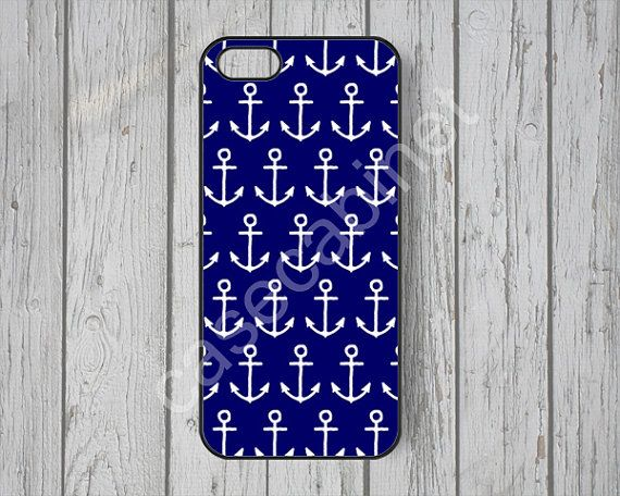 Nautical Anchor iPhone 5 case iPhone 5s case Navy by CaseCabinet, $6.99