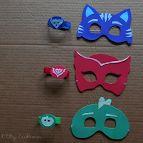 Festa a tema PJ Masks: come fare le maschere e i braccialetti dei Pigiamini da regalare ai bambini