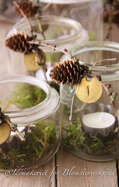 Tischdeko aus naturmaterialien christmas pinterest for Advent tischdeko