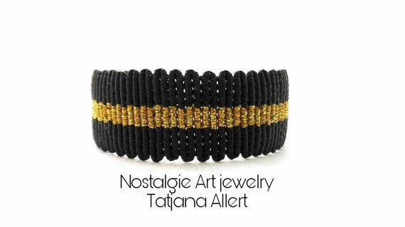 Hey, I found this really awesome Etsy listing at https://www.etsy.com/listing/488325504/macrame-bracelet-black-and-gold