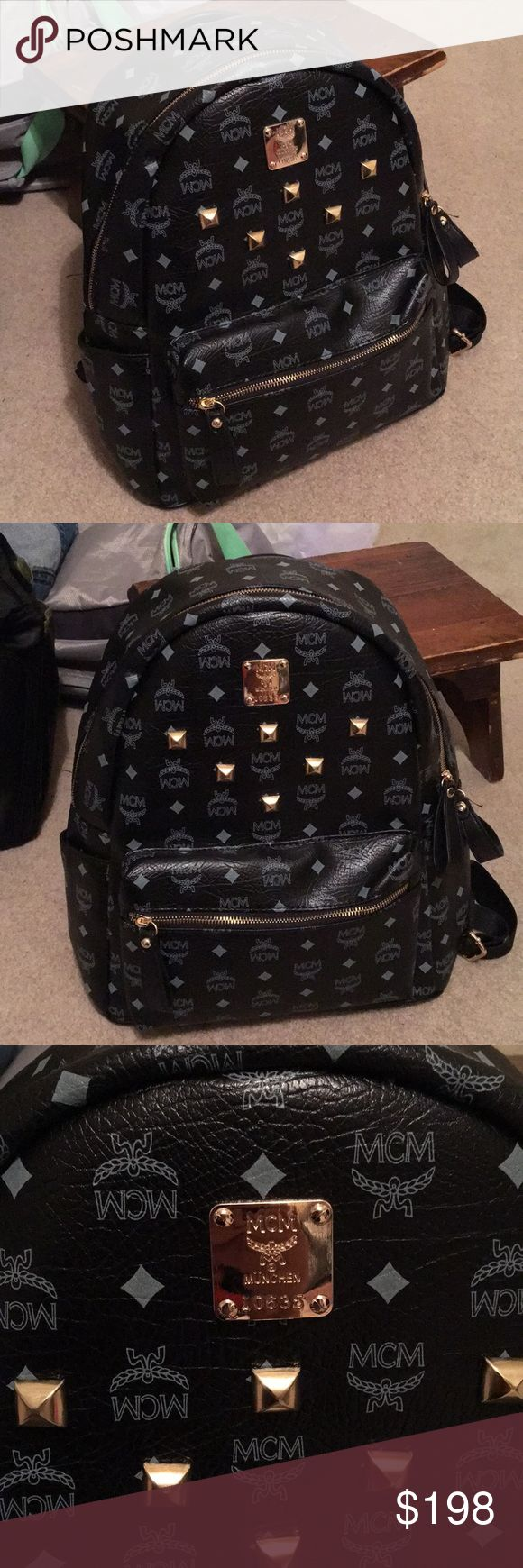 MCM Backpack Used a few tim a but in good condition. No flaws. Will negotiate. MCM Bags Backpacks