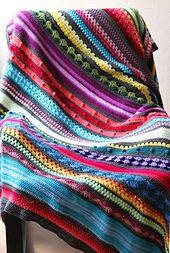 Rainbow Sampler Blanket FREE PATTERN - If you want to try and incorporate all different kinds of stitches into one blanket, a sampler blanket is the perfect project for you! It doesn't have to be perfect – as a sampler it rarely is – and it gives you an opportunity to try about anything you like. I like to play with textures, colours and if possible all at the same time. It was the perfect project for me!