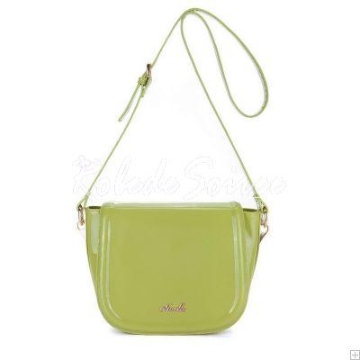 Sac Besace Femme-Candy-sac de messager en cuir de couleur