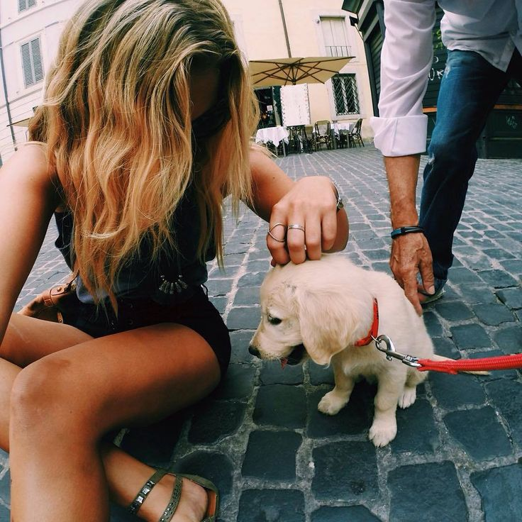 Блондинка и собака картинки