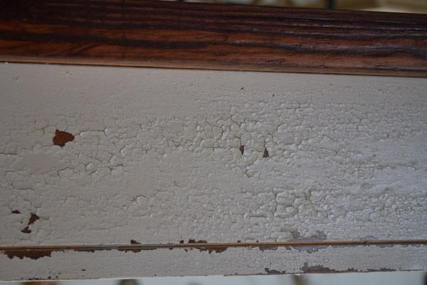 Old world chippy distressed paint finish ana white for Old world faux painting