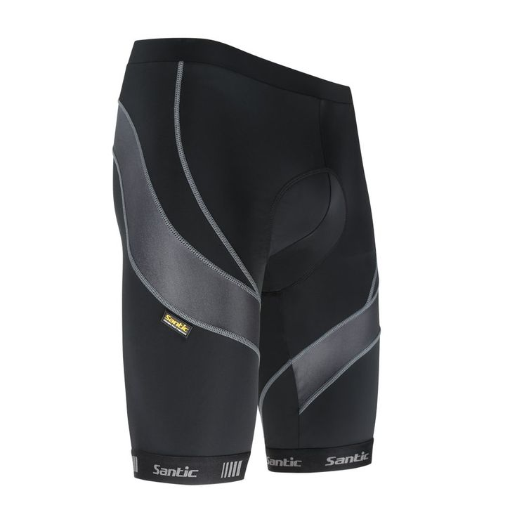 Santic 4D Padded Men Baggy Cycling Shorts Black Sporting Shorts