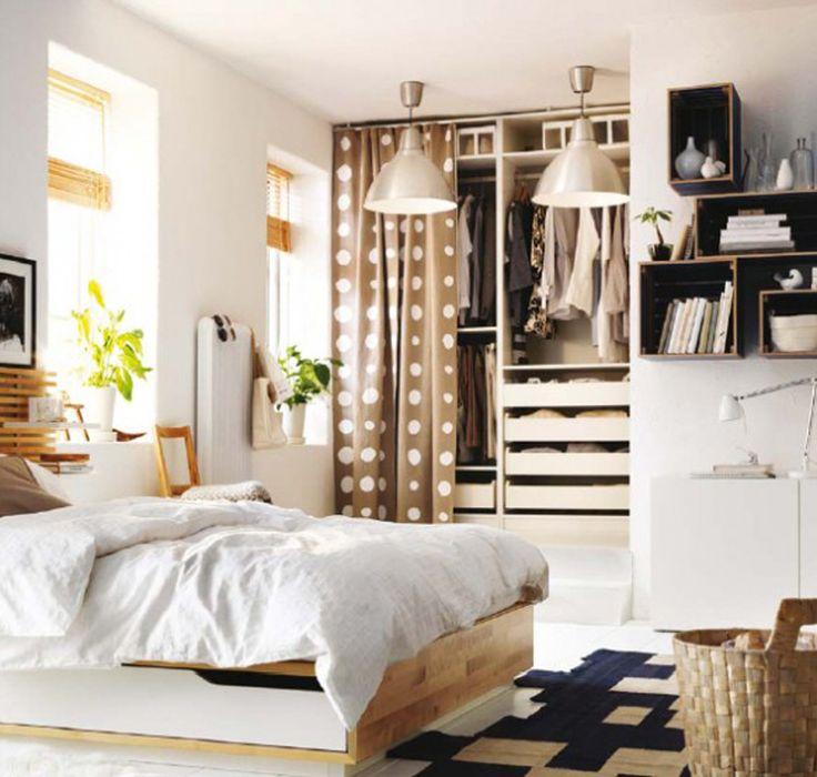 IKEA Bedroom Ideas Love Curtain Instead Of A Cupboard Door