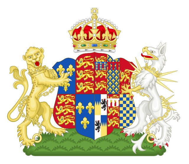 Anne Boleyn's coat of arms as Queen Consort[77]
