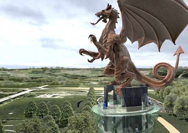Wales is making a huge bronze Dragon? Awesome!!