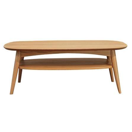 Skandi Oak Coffee Table with Shelf   Dunelm