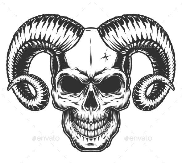 Skull With Horns Skull With Horns Skull Artwork Skull