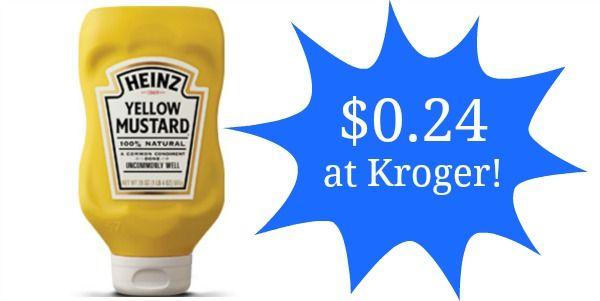 Kroger: Heinz Mustard 20oz Only $0.24!