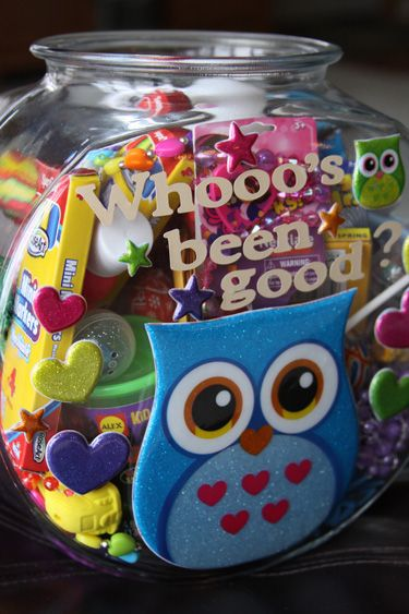 """Whooo's been good"" is a little surprise jar that we have in our house for when I catch the kids doing something unexpected and totally awesome! aspottedpony.com"