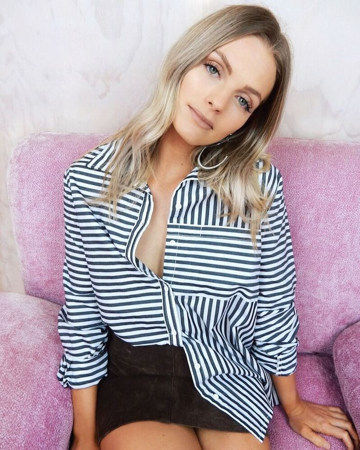 ♡ NEW ARRIVALS ♡ Shop the Just My Stripe Boyfriend Shirt + lots more newbies ONLINE NOW! ♡ haliteclothing.com #HALITE
